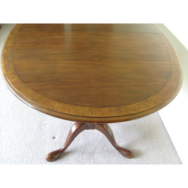 Queen Anne Double Pedestal Dining Table by Baker - Image 3 of 6