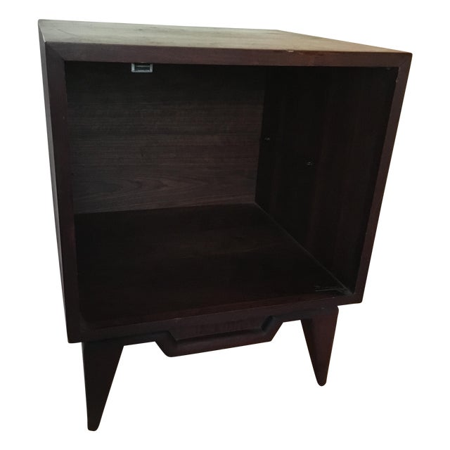 Mid-Century Modern Side Table Record Cabinet - Image 1 of 5