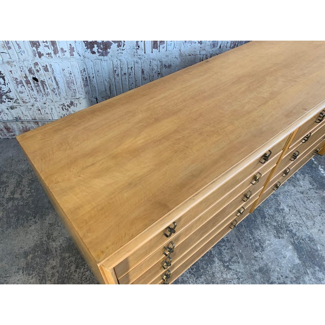 1950s Paul Frankl Ten Drawer Dresser Circa 1950s by Johnson Furniture For Sale - Image 5 of 7