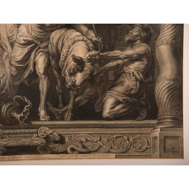 """""""The Triumph of Eucharistic Truth over Heresy"""", an engraving of the painting by Peter Paul Rubens c.1800. For Sale - Image 10 of 11"""