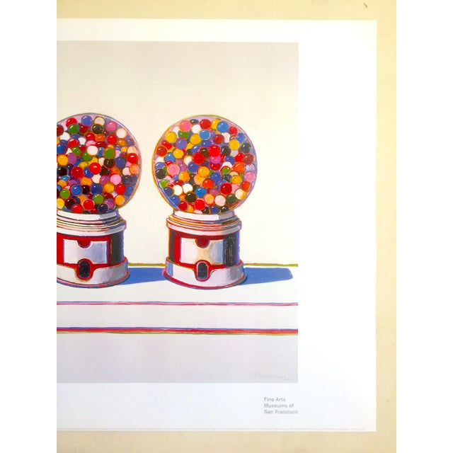 "Mid-Century Modern Wayne Thiebaud Lithograph Print Pop Art Museum Poster "" Three Machines "" 1963 For Sale - Image 3 of 12"