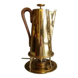 Tommi Parzinger Brass Coffee Server Set For Sale