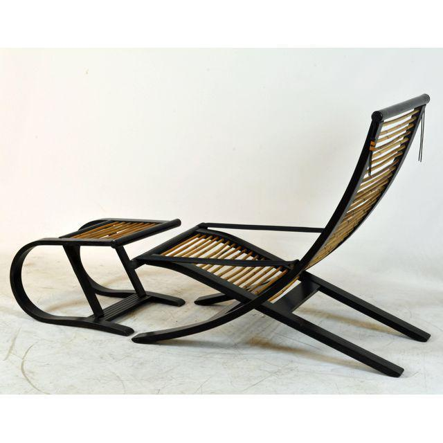David Colwell David Colwell C1 Reclining Lounge Chair and Foot Stool For Sale - Image 4 of 11