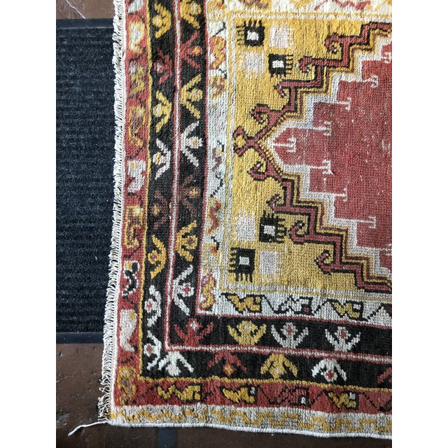 Antique Turkish Wool Prayer Rug For Sale In Atlanta - Image 6 of 9