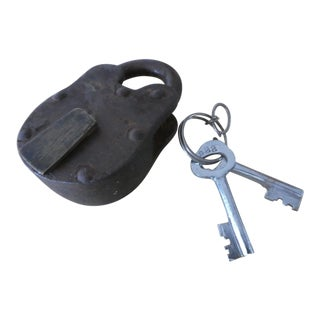 Antique Lock with Keys For Sale