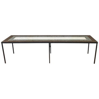 Paul McCobb-Style Tile Top Extra-Long Coffee Table or Bench, 1960s For Sale