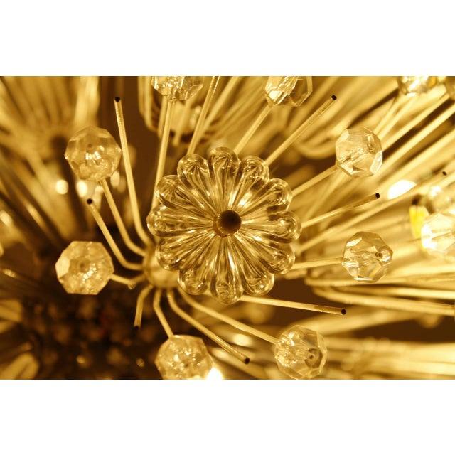 Emil Stejnar Chandelier Snowball Glass an Chrome Seventeen Lights Austria 1960 For Sale - Image 6 of 8