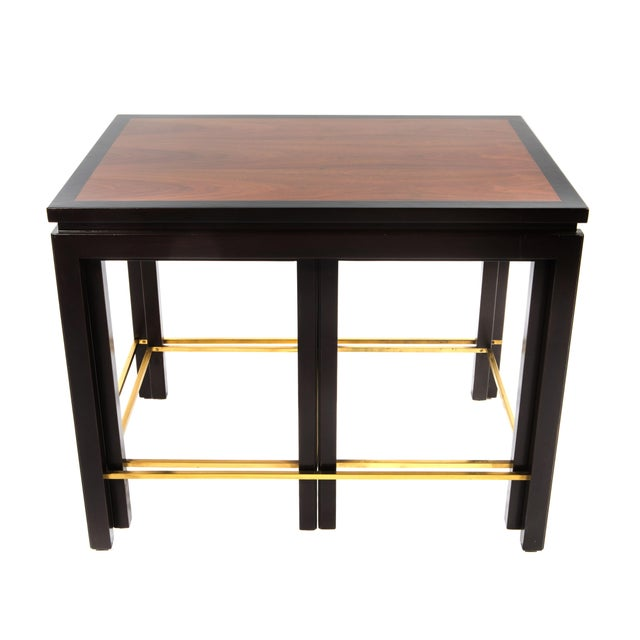 SET OF THREE NESTING TABLES BY EDWARD WORMLEY FOR DUNBAR, CIRCA 1950S - Image 10 of 11