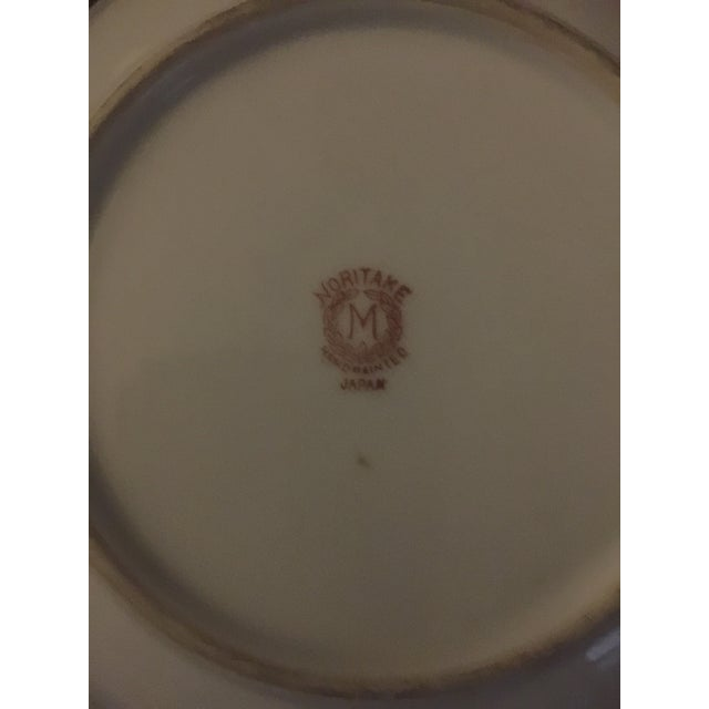 Art Deco Vintage Noritake Hand Painted Plate For Sale - Image 3 of 4