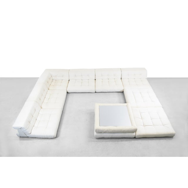 A monumental Mah Jong lounge sofa designed by Hans Hopfer for Roche Bobois, circa 1975. Originally named the Lounge Sofa,...