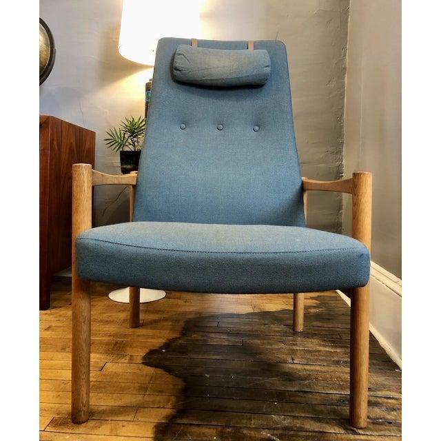 Vintage Swedish Modern High-Back Lounge Chair For Sale - Image 12 of 13