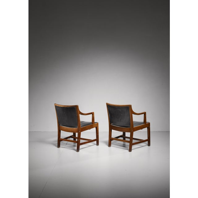 Kai Fisker Pair of Kay Fisker attributed Danish armchairs, 1940s/50s For Sale - Image 4 of 7