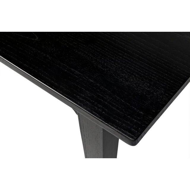 Black Charcoal Black Daphne Writing Desk For Sale - Image 8 of 9