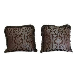 Pindler & Pindler Fabric Down Pillows - a Pair
