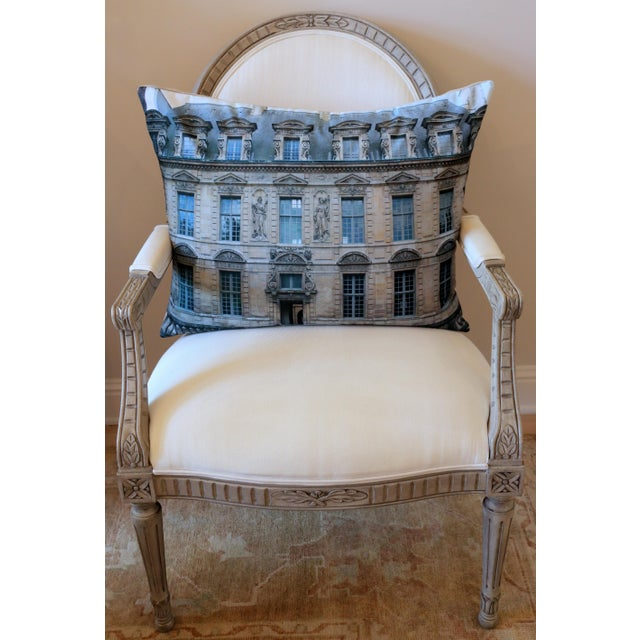 Paris Photo Pillow by Swede Collection. Photo of architectural building in Paris printed on linen canvas. This is a...