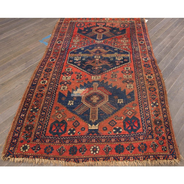 "Vintage Hand-Knotted Persian Rug - 4' X 7'3"" - Image 2 of 4"