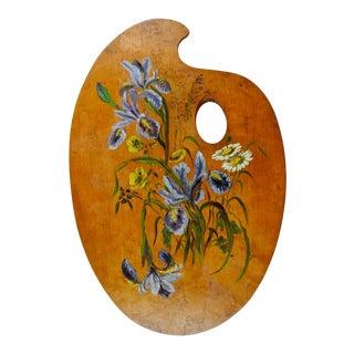 Painted Artist Palette Iris For Sale
