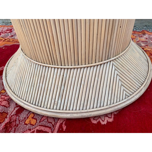 Tan Split Reed Bamboo Rattan Dining Table Base in Crespi Style For Sale - Image 8 of 12