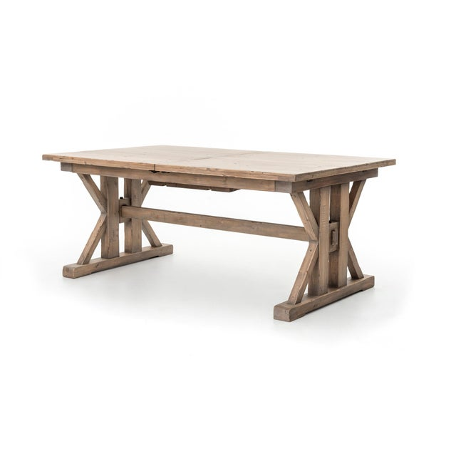986ccd8b51ee5b Our Farmhouse dining table bring a taste of the Tuscan countryside to your  home. The. Mediterranean Modern Farmhouse Extendable ...
