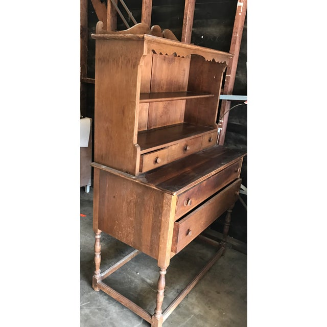 Antique Wood Hutch - Image 5 of 6