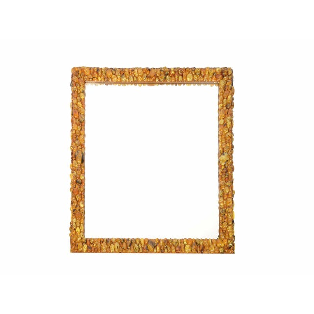 KAM TIN Kam Tin - Amber Mirror With Amber Cabochons, France, 2016 For Sale - Image 4 of 4