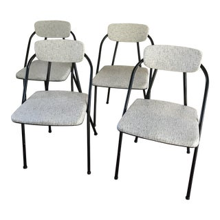 Vintage Cosco Folding Metal Chairs - Set of 4