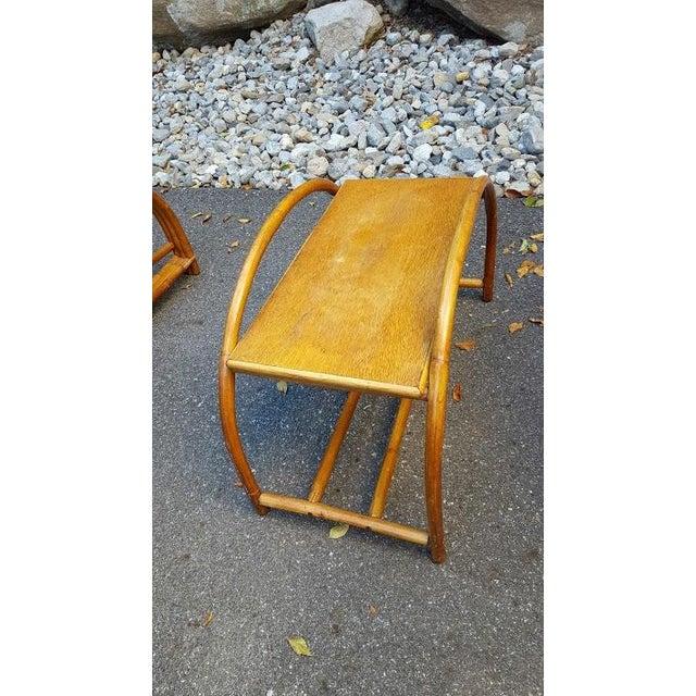 Vintage Paul Frankl Style Rattan Furniture - Set of 5 - Image 7 of 9