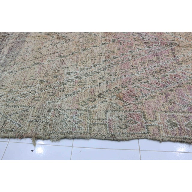 1970s Vintage Moroccan Boujad Rug - 6′4″ × 11′2″ For Sale - Image 4 of 5