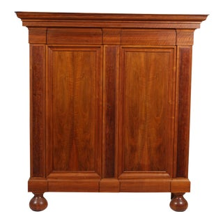 Vintage Danish Dowry Armoire Cabinet For Sale