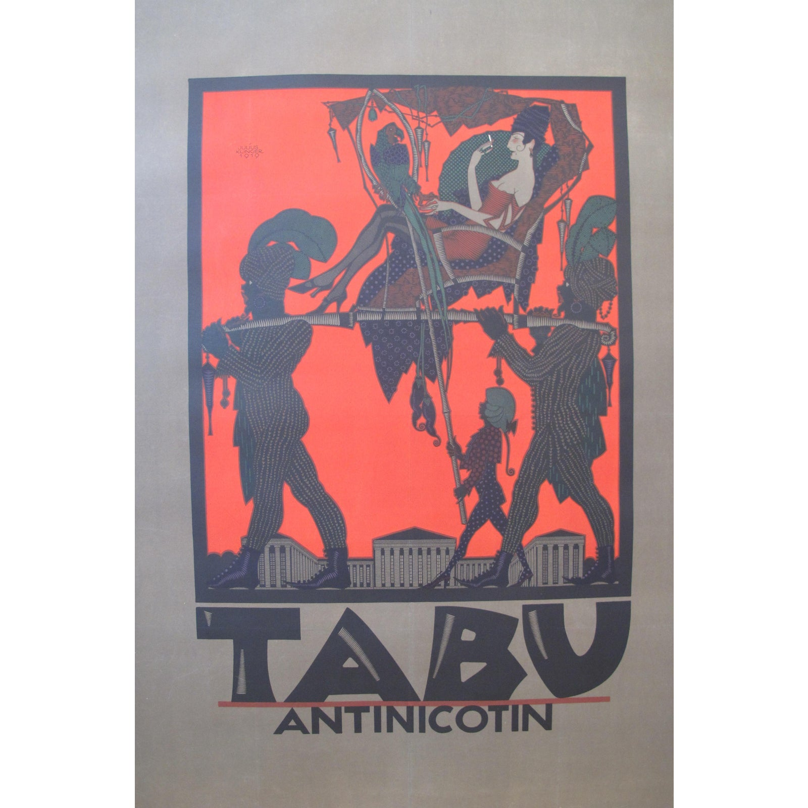 Rare 1919 original julius klinger art deco design poster chairish