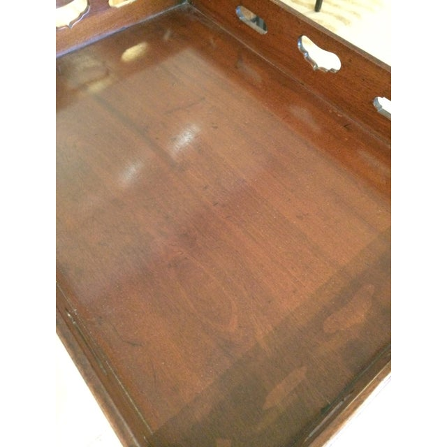 English Traditional Mahogany Butler's Tray Table For Sale In Philadelphia - Image 6 of 11
