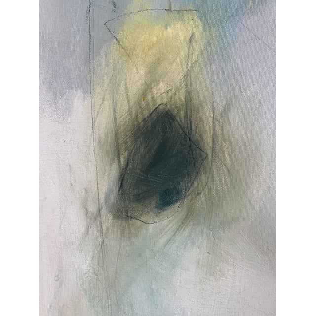 Abstract Signed Abstract Oil and Acrylic Painting on Canvas by Christina Javanmardi For Sale - Image 3 of 5