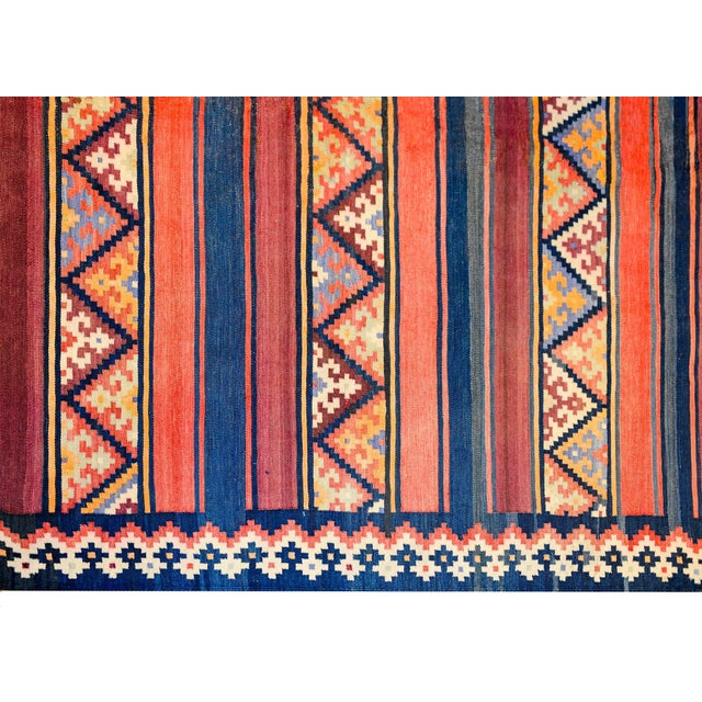 Early 20th Century Zarand Kilim Rug For Sale - Image 4 of 8
