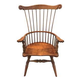 1980s Vintage Stickley Windsor Youth Chair For Sale