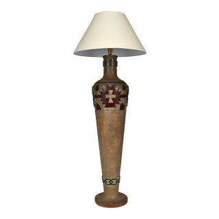 1970s Vintage Southwest Pottery Style Lamp For Sale