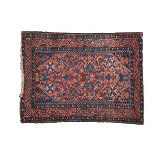 "Vintage Malayer Square Rug - 3'4"" X 4'4"" For Sale"