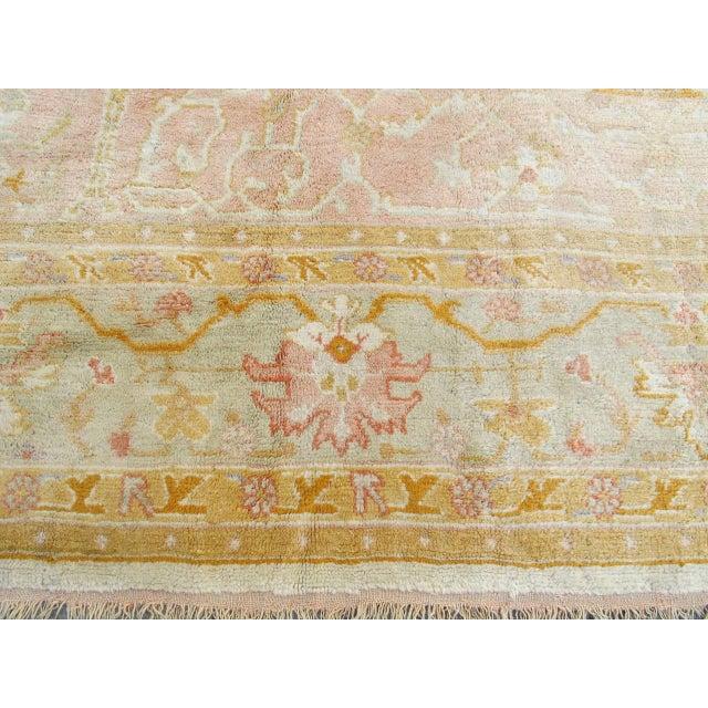 Oversized Oushak Carpet For Sale In San Francisco - Image 6 of 10