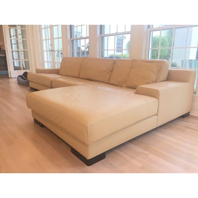 Ver Design Cream Leather Armonia Sofa - Image 2 of 7