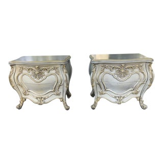 Vintage Rococo Two Drawer Nightstands - a Pair For Sale