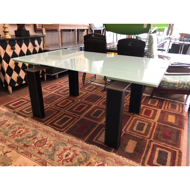 Bontempi Casa Mistrak Glass Extendable Dining Table For Sale - Image 4 of 10