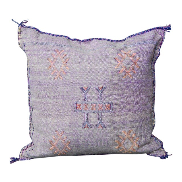 Crazy for You' Moroccan Sabra Silk Pillow For Sale