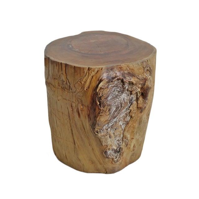 Teak Stump Side Table For Sale - Image 4 of 4