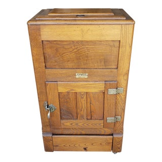 1930's Boho Chic Ranney Ashwood Oak Icebox For Sale