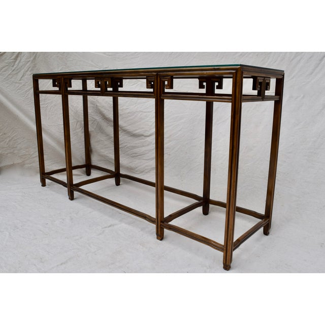 """Wood Baker Burlwood Console Table, """"Far East"""" Collection"""" For Sale - Image 7 of 13"""