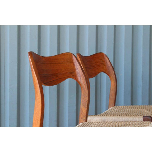 Brown Set of Six Dining Chairs by Niels Moller, Denmark, 1960s For Sale - Image 8 of 13