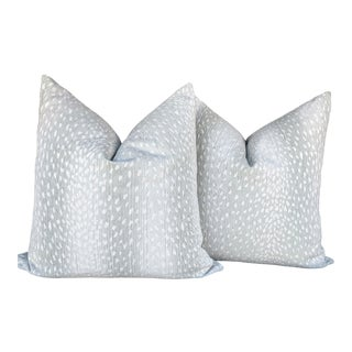 Outdoor Antelope in Gray Pillow Covers - a Pair For Sale