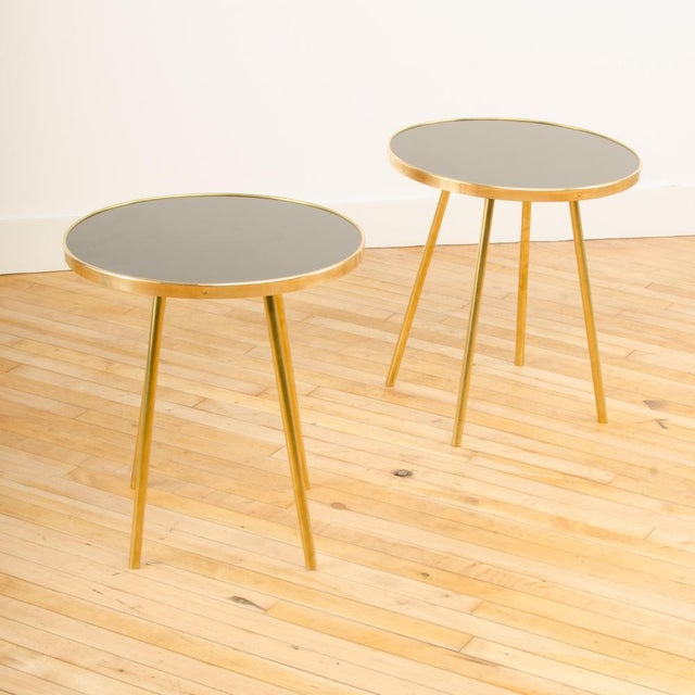 Italian Modern Brass Occasional Tables - a Pair For Sale - Image 11 of 12