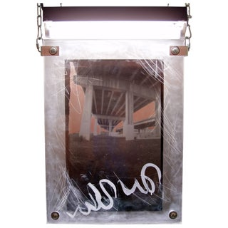 """Urban Art Pinhole Photo Transparency and Lucite """"I-95"""" For Sale"""