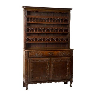 French Carved Kitchen Cabinet / Vaisselier For Sale