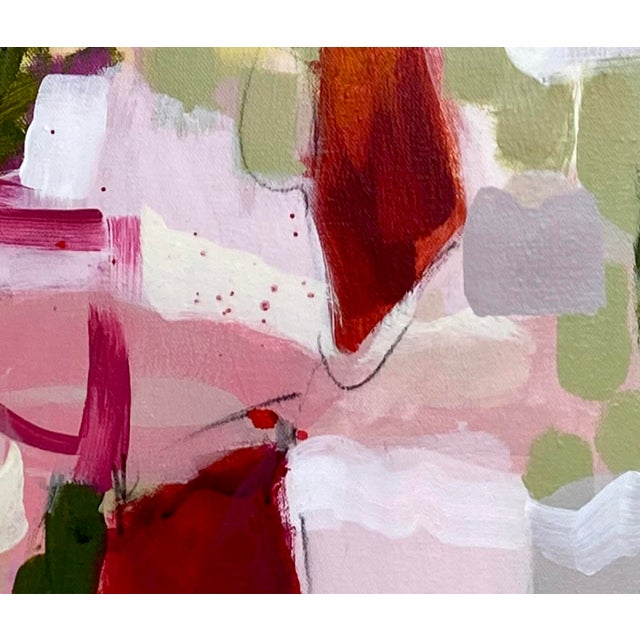 """2020s """"She's Subtle, Like a Jet Plane"""" - Original Mixed Media Abstract Painting by Gina Cochran For Sale - Image 5 of 7"""